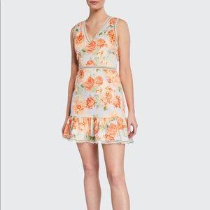 Alice + Olivia Kirean Floral  Mini Dress New 10